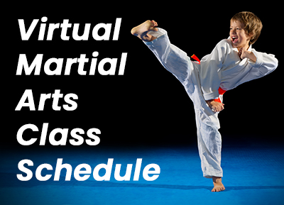 Virtual Martial Arts Class Schedule